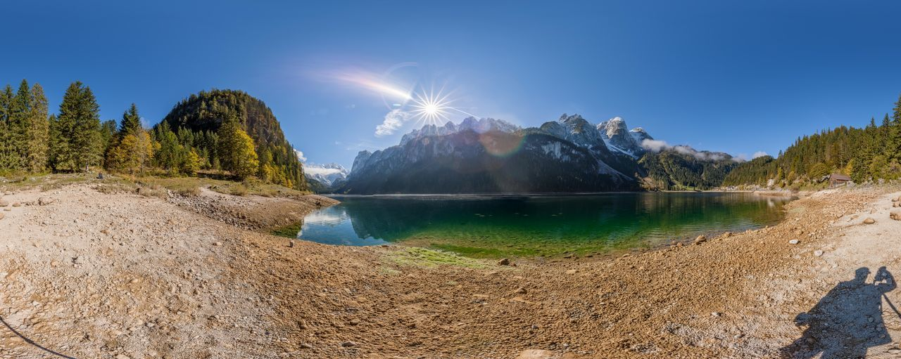 Gosausee, Österreich Austria Dachstein Gosau Gosausee Landscape Landschaft Mountain Mountain Range Nature No People Outdoors Photograpghy  Panorama Panoramic Photography Salzkammergut Travel Destinations Österreich