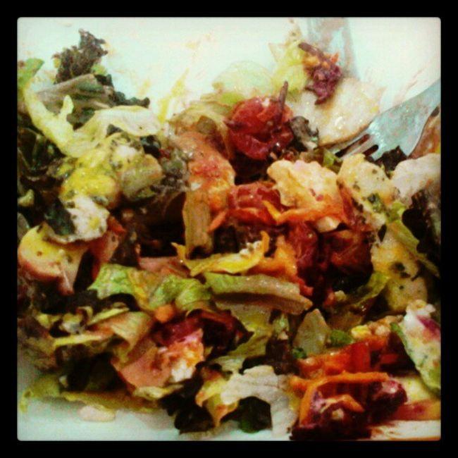 Salada saladinha Cenoura Tomate Beterraba Azeite mostarda mel frango champignon