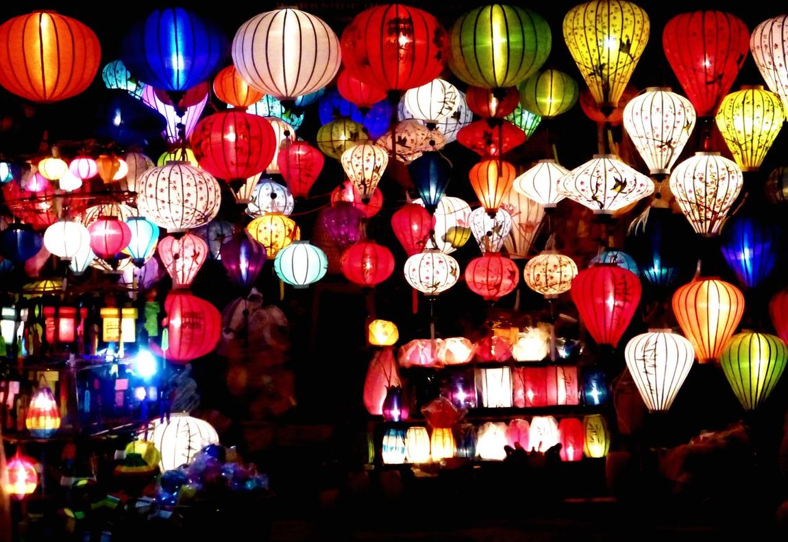 Lantern world Decoration Hanging Multi Colored Cultures Lantern Large Group Of Objects Illuminated Abundance Lighting Equipment Low Angle View Vietnam Vietnamese Vietnamphotography Vietnamese Lantern Variation No People Night Outdoors The City Light