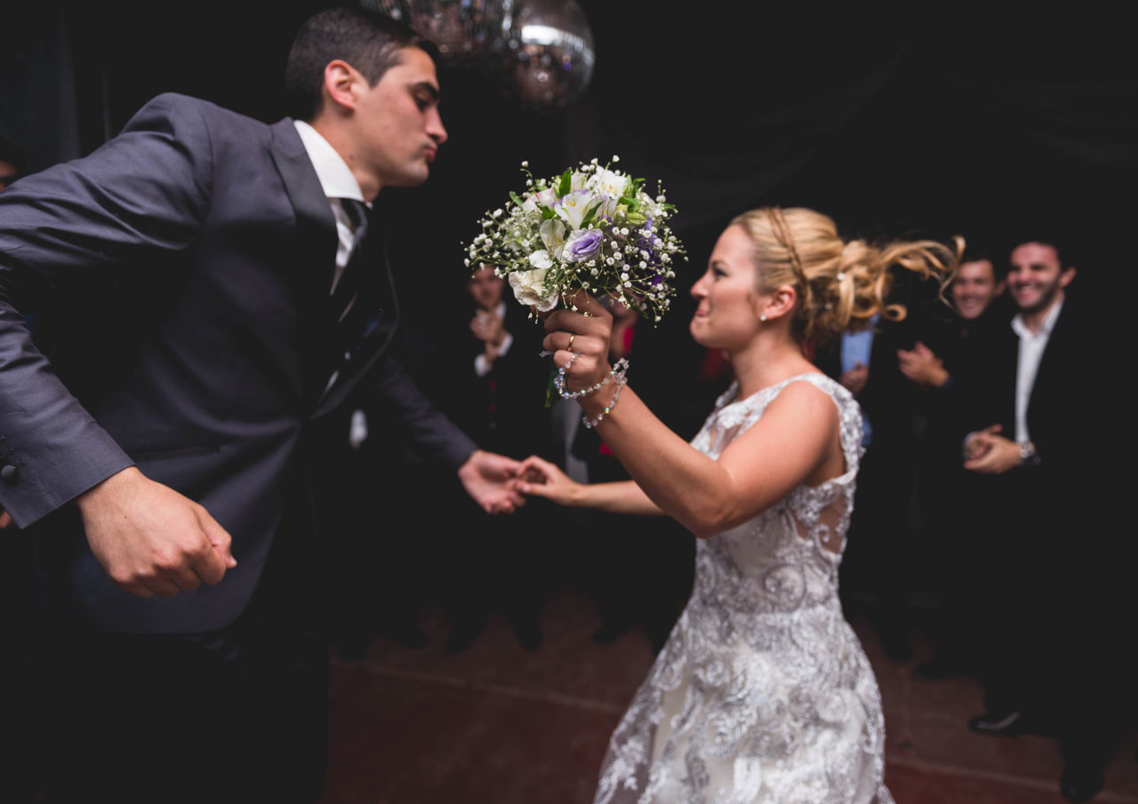 Bouquet Bouquet Of Flowers Bride Bride And Groom Bridegroom Dance Dancing Groom Party Party Time Togetherness Wedding Wedding Wedding Day Wedding Photography Working