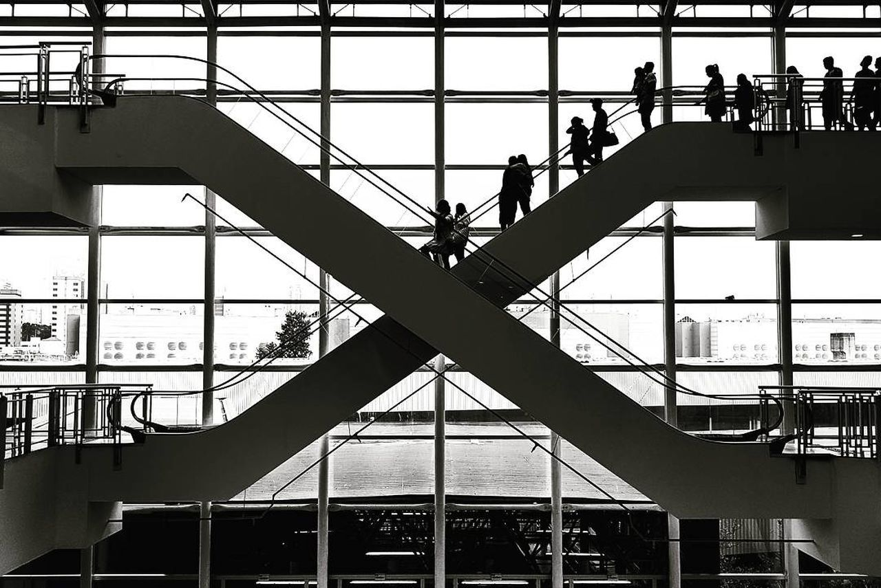 The Street Photographer - 2017 EyeEm Awards Silhouette Built Structure Architecture Day People Indoors  Adult Building Structures Architecture The Architect - 2017 EyeEm Awards Real People Lifestyles Indoors  Escalators And Staircases Mall São Paulo The Photojournalist - 2017 EyeEm Awards The Street Photographer - 2017 EyeEm Awards