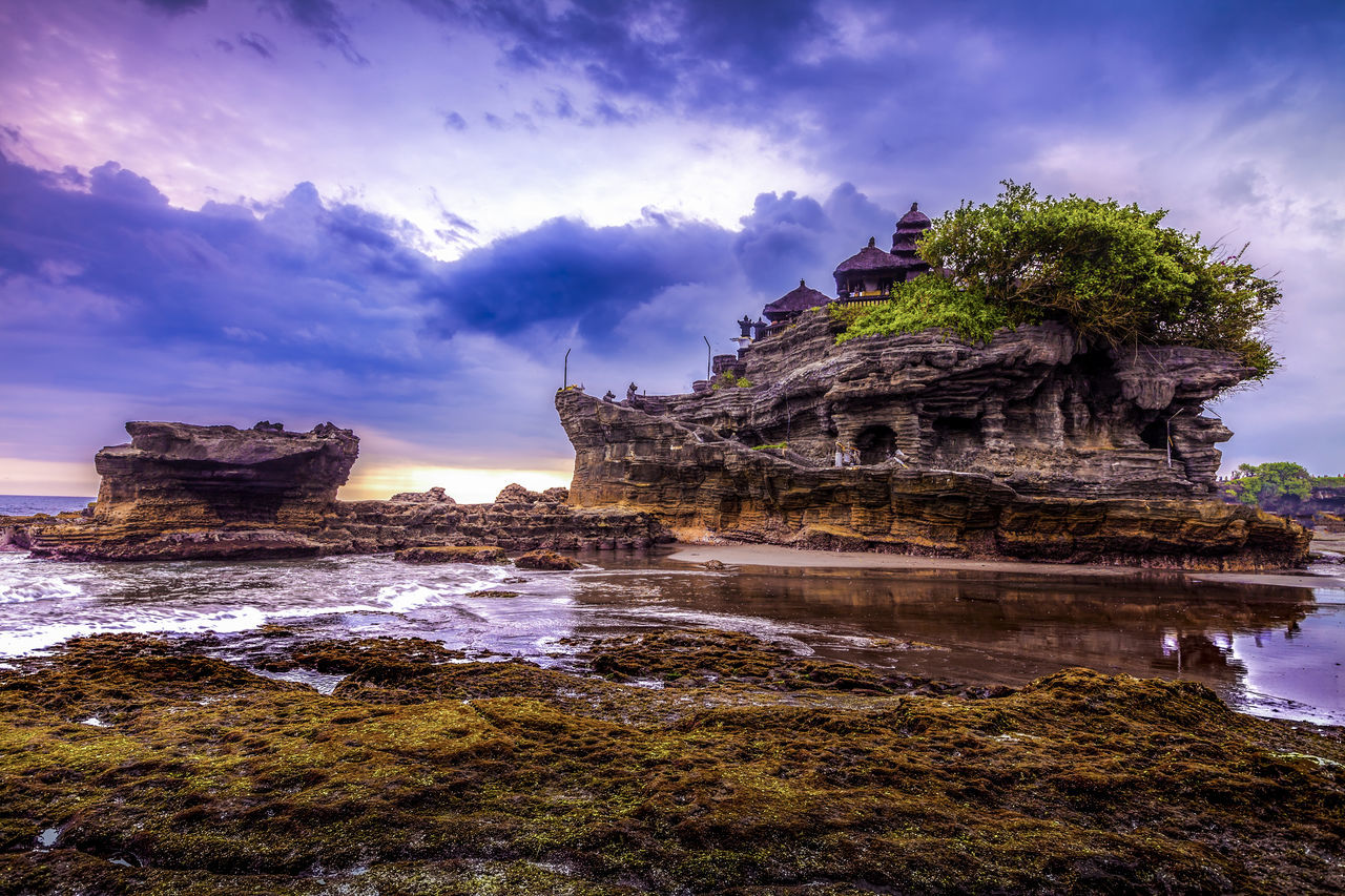 Tanah Lot Temple in Bali Indonesia - nature and architecture background Ancient Architecture Bali Bali, Indonesia Hinduism INDONESIA Indonesia_photography Outdoors Rock - Object Seascape Seascape Photography Tanah Lot Tanah Lot Bali Tanah Lot Bali, Indonesia Tanah Lot Temple Travel Travel Destinations
