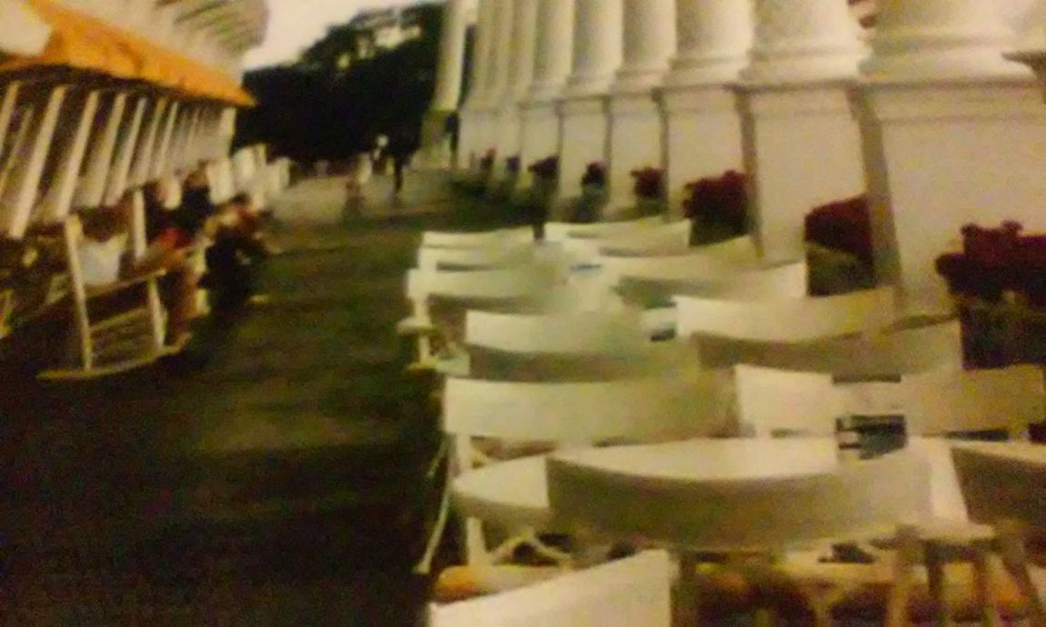 Real People Blurred Motion People Day Travel Vacation Vacations United States Looking At View Scenics Backgrounds Porch Long Porch Grand Hotel The Grand Hotel Michigan Mackinac Island Flowers Architecture Collumns Chairs Rocking Chairs