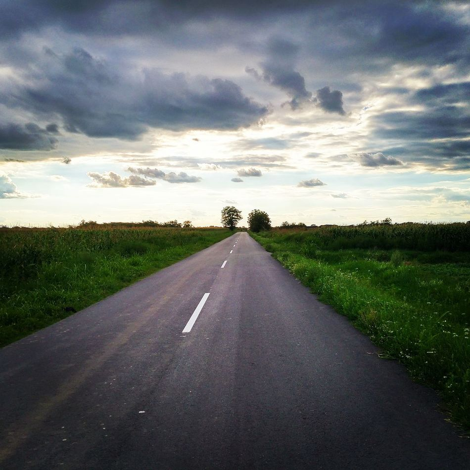 My Year My View Road Cloud - Sky Hit The Road The Way Forward Road Outdoors Landscape Nature Beauty In Nature Tree Day Photography Amateurphotographer  Travel Amateurphotography