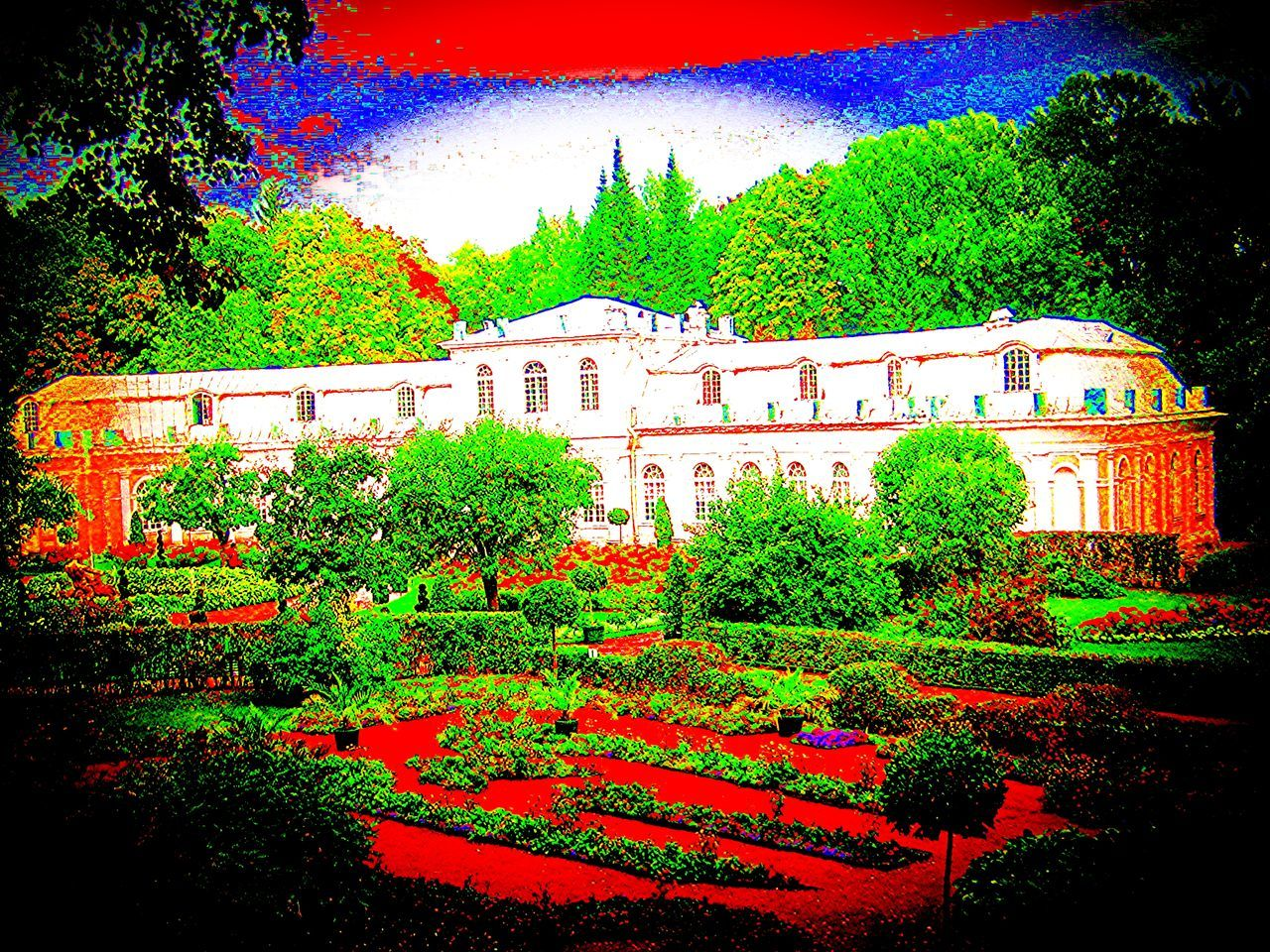 Arboretum Beauty In Nature Bright Greenhouse Palace Palaces Psyched Psychedelic Psychedelicart Unusual Vision Visionary