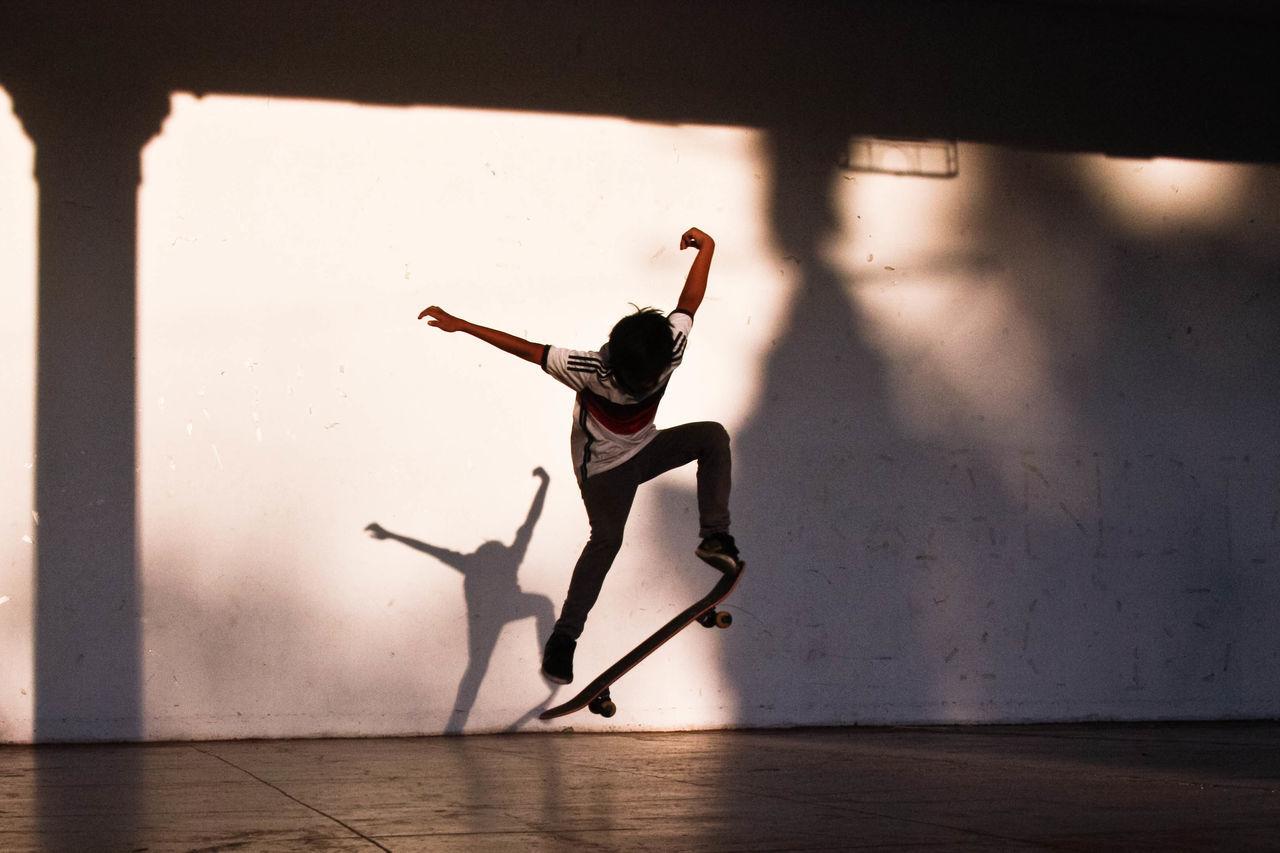 Adventure Extreme Sports Leisure Activity One Person Shadow Skateboard Skateboarder Skateboarding Sport Teen Teenage Boy Teenager