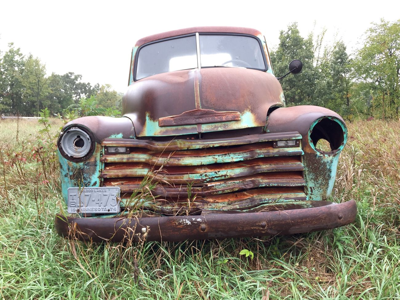 Abandoned Rusty Damaged Transportation Rural Scene Obsolete Old Land Vehicle Run-down Mode Of Transport Deterioration Field Front View Agriculture Outdoors Weathered Day The Past Farm Stationary Retro Antique Rusty Autos