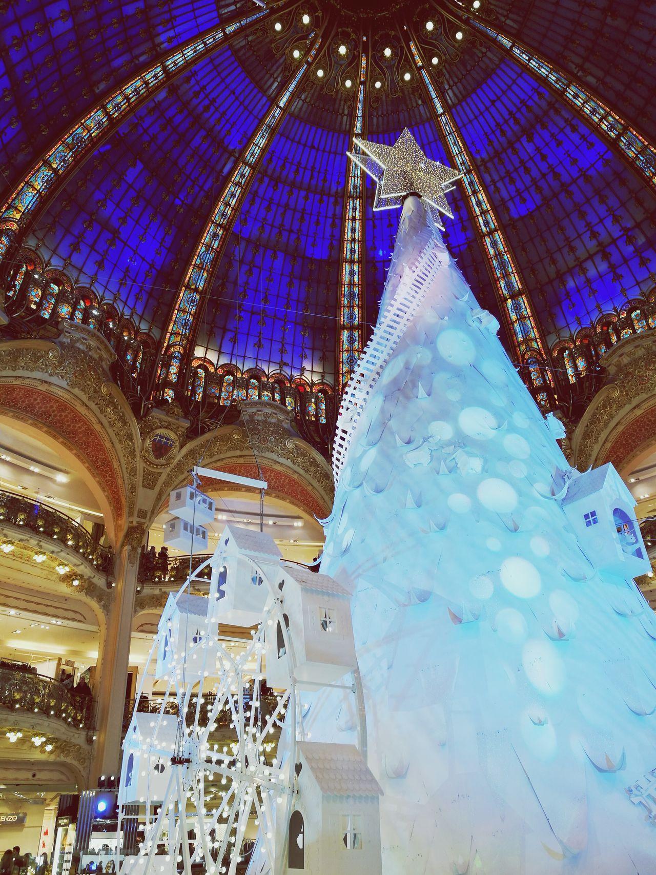 Illuminated Galeries Lafayette Noël ! First Eyeem Photo