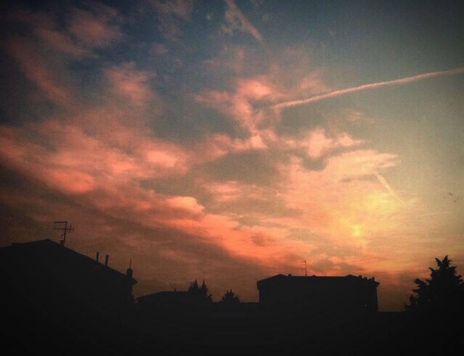 Sunset Pinkclouds Bluesky Goodbye Winter, Welcome Spring 💓