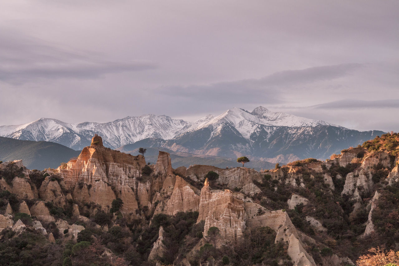 Beauty In Nature Day France Ille Sur Tet Landscape Mountain Mountain Peak Mountain Range Nature Neige No People Orgues Outdoors Pyrenees Orientales Snow