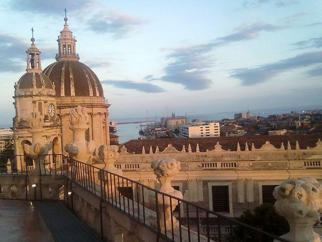 Battle Of The Cities Building Exterior Architecture Built Structure City Sky Cathedral Cloud - Sky No People Panoramic Photography Landscape Catania, Sicily Sicily Catania