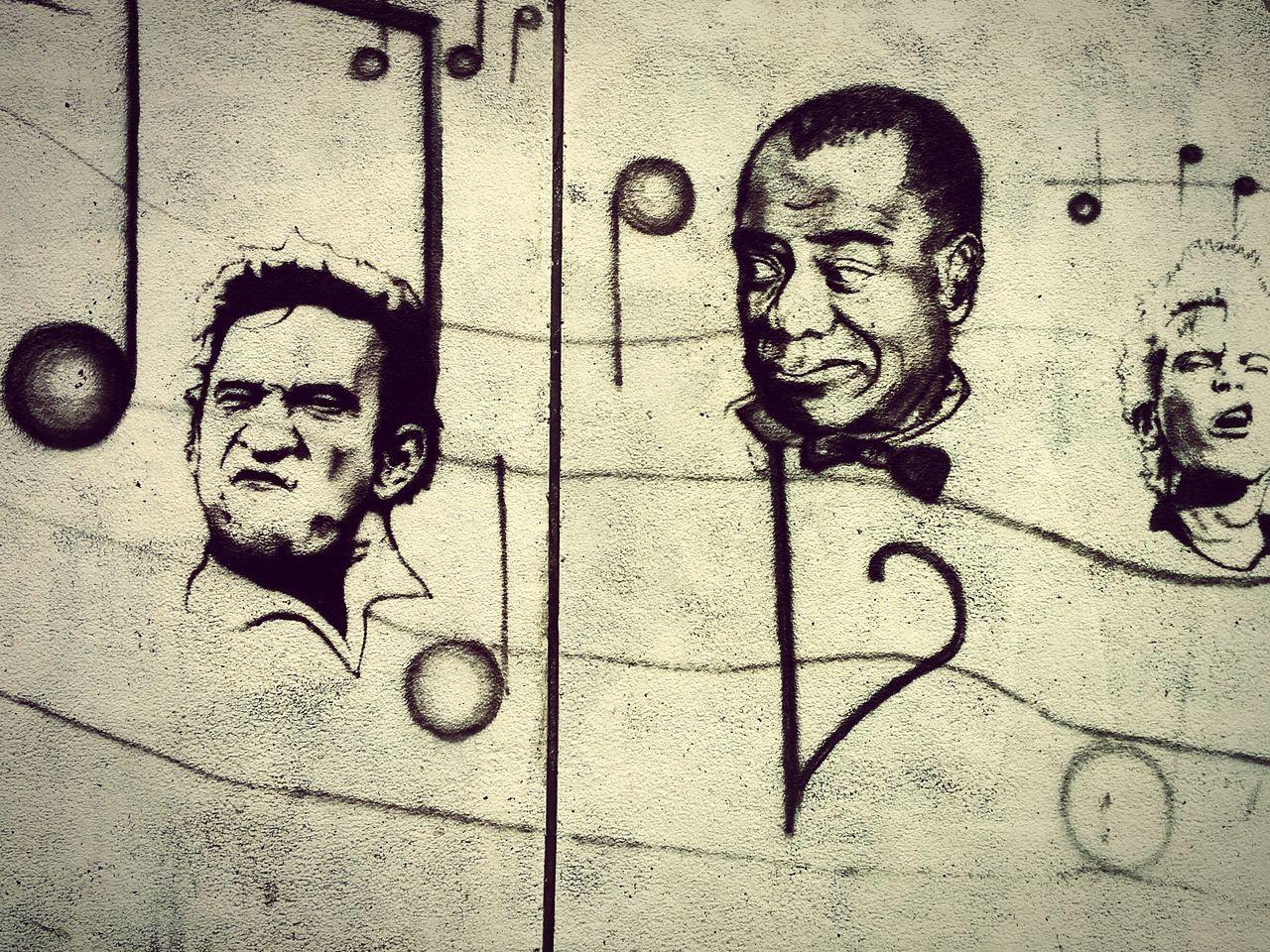 Outside of Doors Club in Constanta, Romania Rock N Roll Johnnycash Billyidol Louis Armstrong Constanta Streetart/graffiti Street Art Wall Art Rock