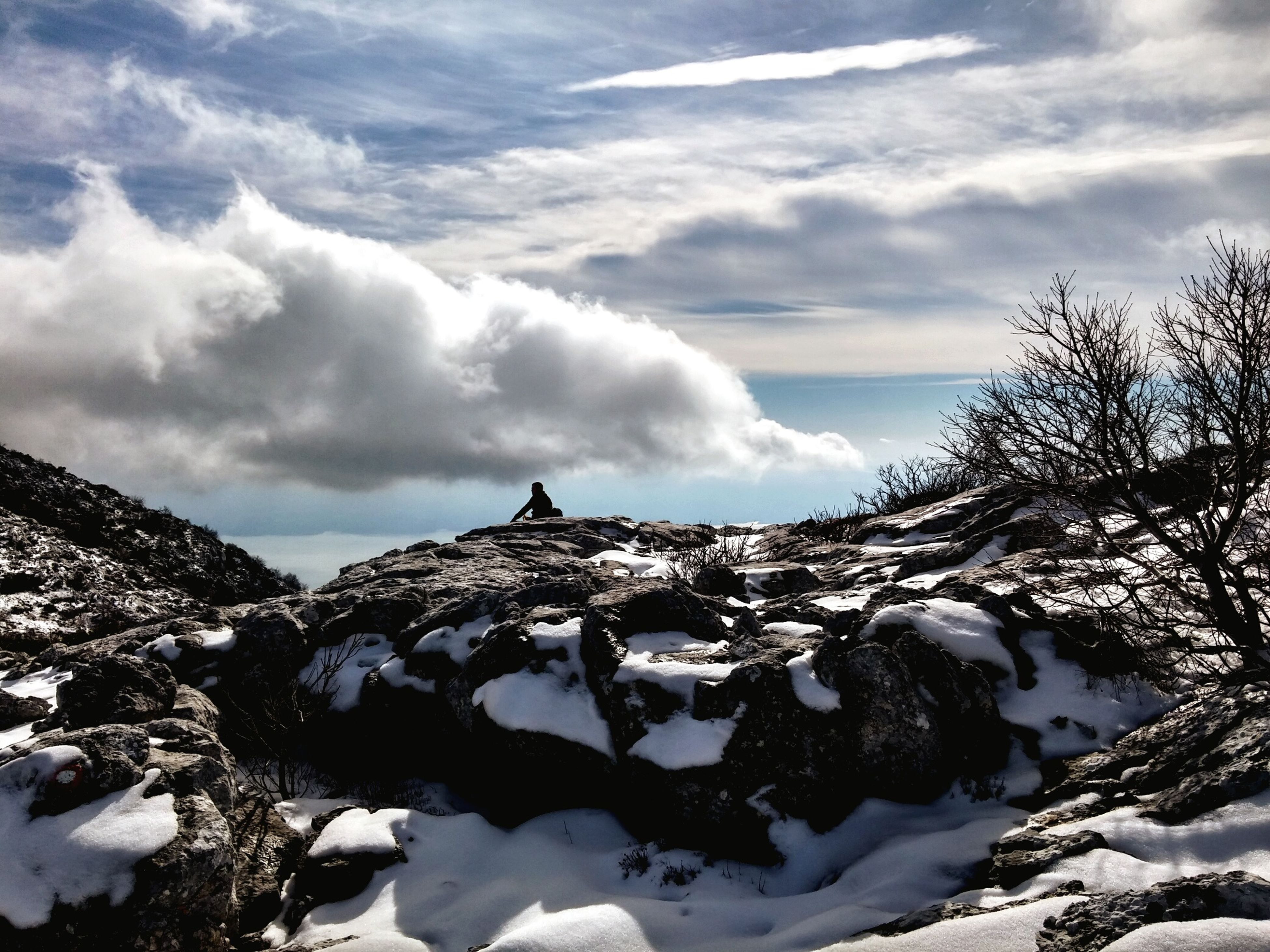 snow, winter, cold temperature, season, weather, sky, tranquil scene, mountain, tranquility, scenics, cloud - sky, landscape, beauty in nature, covering, snowcapped mountain, nature, mountain range, white color, frozen, cloud