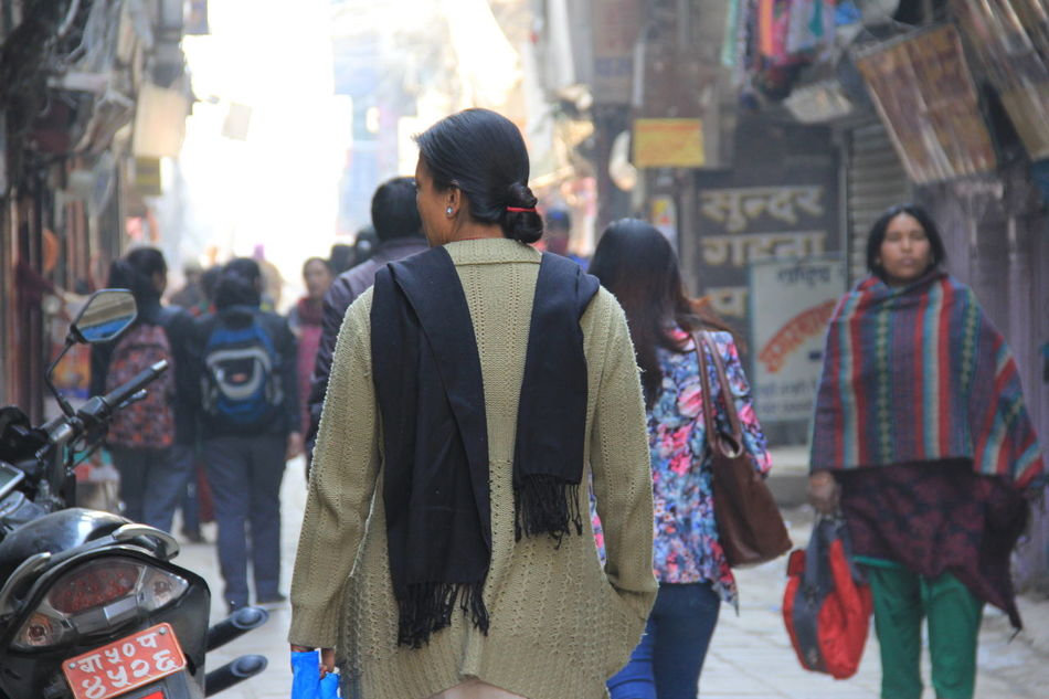Street Walking Women Nepalipeople😊 Traditional Clothing nepal travel