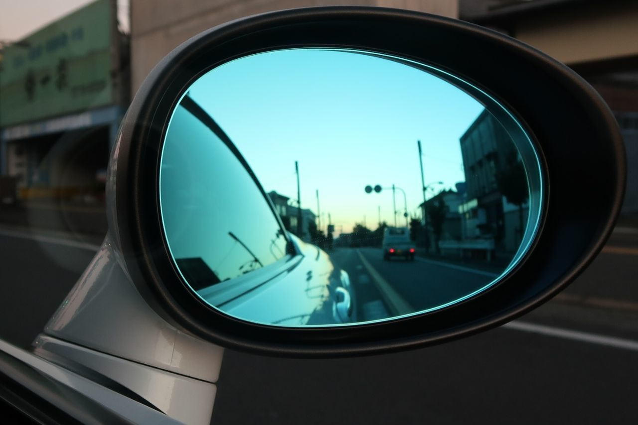 Window Reflection Transportation Side-view Mirror Vehicle Mirror No People Close-up Fish-eye Lens Sky Outdoors Day Roadster Mx5 Miata MX-5 Mazda ロードスター Road