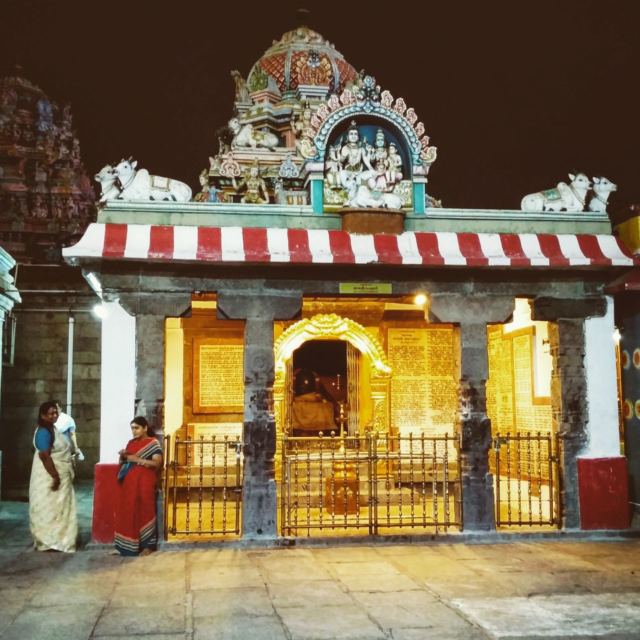 A grand ancient temple resplendent in an August night in India Mylapore Temple Hinduism Photography Chennai India