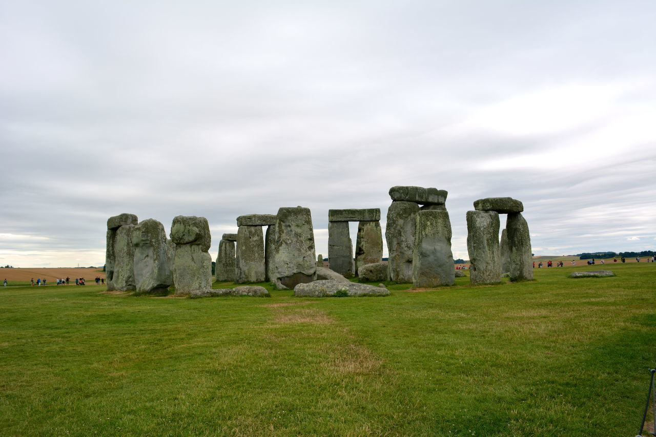 The legendary and mysterious Stonehenge rising out of Salisbury Plain, Wiltshire, England Cloudy Day Cloudy Sky Great Britain Mysterious Place Salisbury Plain Salisbury, Wiltshire Standing Stones Stone Circle Stonehenge Stonehenge And Sky Stones