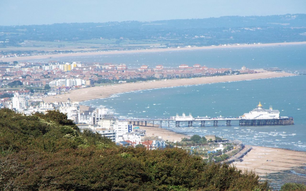 The view of Eastbourne from Beach Head 😍☀🌊 Blue Sea Sea Sunshine Beautiful Outside Eastbourne Beachy Head EyeEm Best Shots View From Above Scenic View Landscape