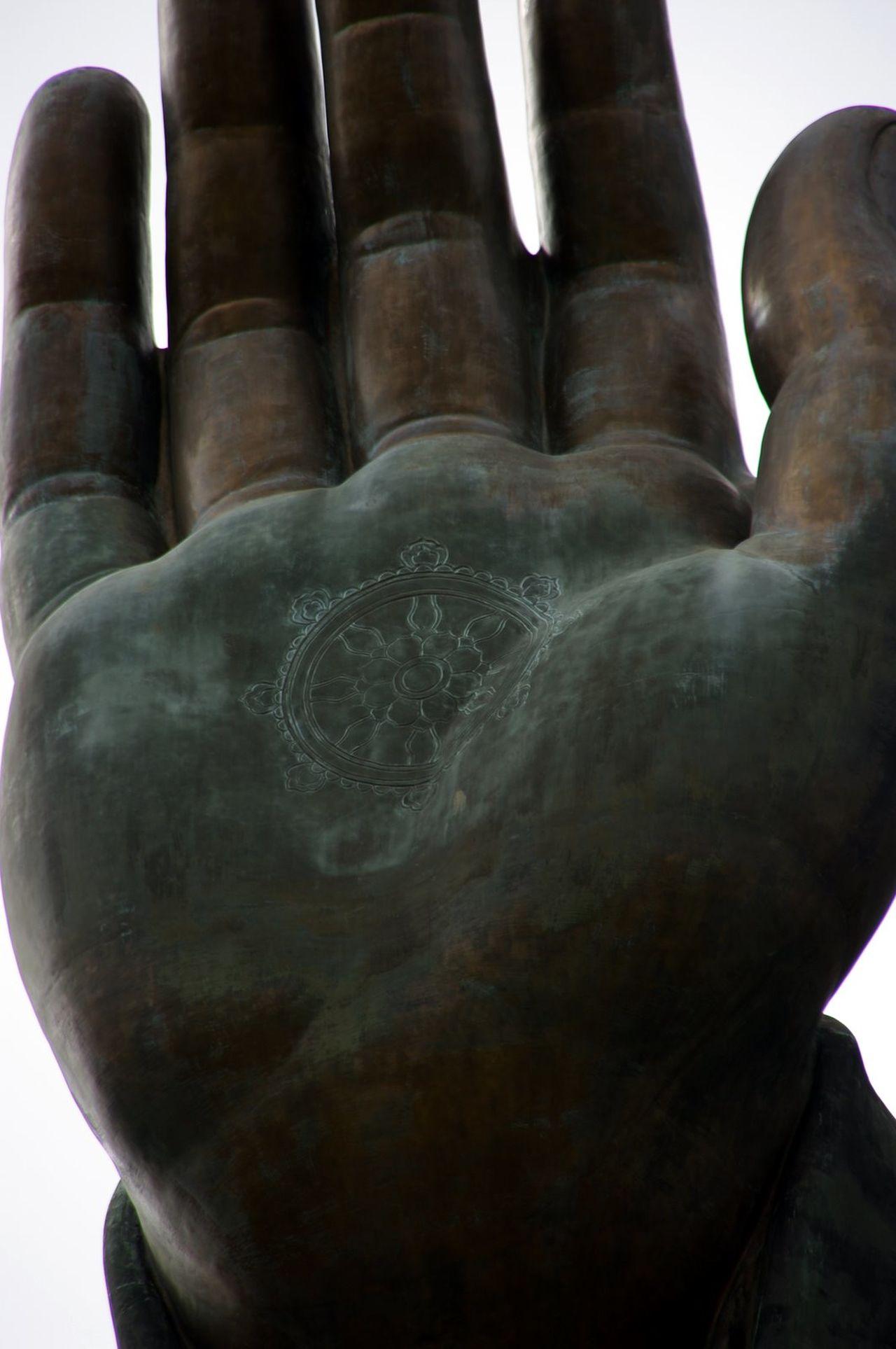 HK memories, 2009 Close-up History Man Made Object Tian Tan Buddha (Giant Buddha) 天壇大佛 Lantau Island HongKong Hand Palm Zoom In Pentax K20d Flashback Buddha Buddhism Statue