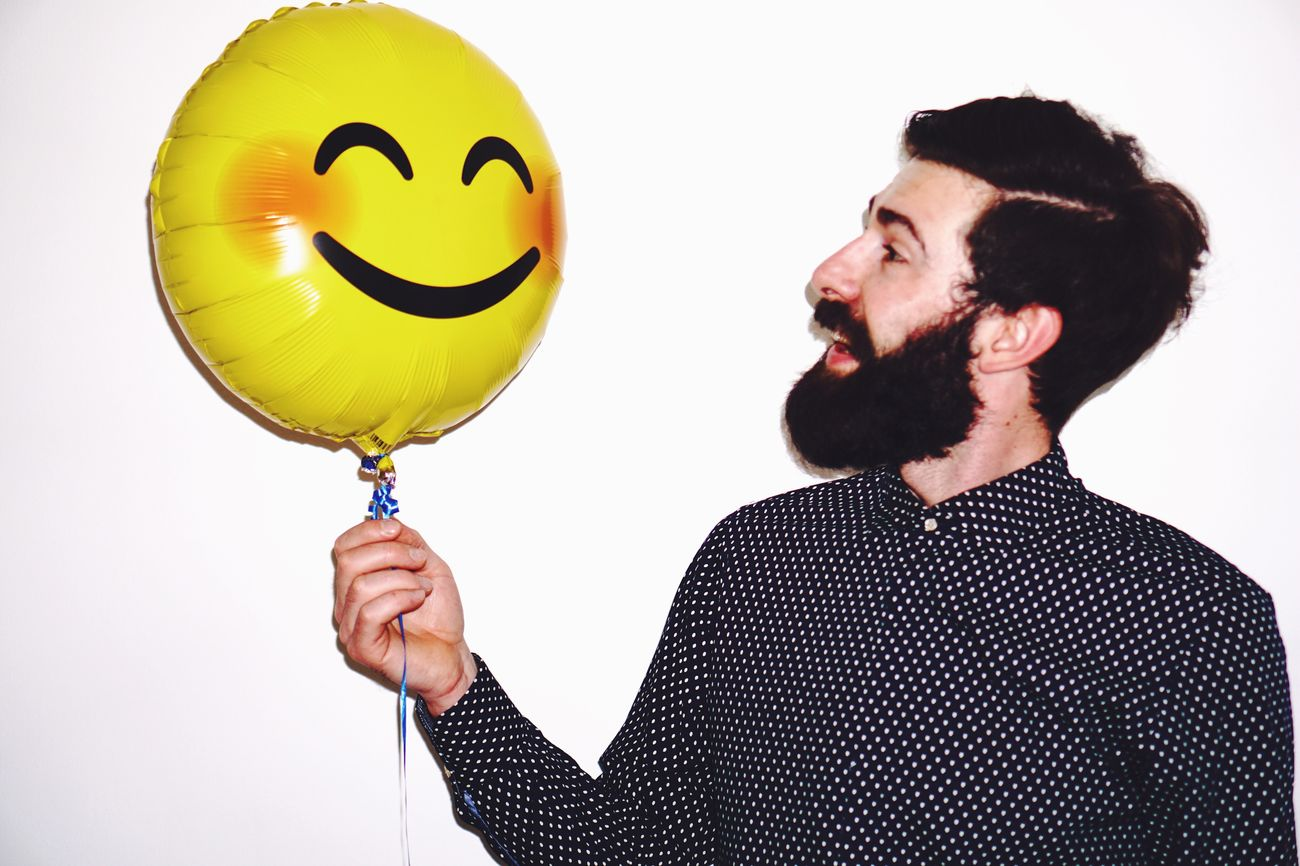 The Portraitist - 2017 EyeEm Awards Human Body Part Men Balloon Happiness Beard Smiling One Person Joy Young Adult Fun Holding Human Face Cheerful Human Hand Only Men One Man Only Adult Businessman Portrait Suit Happy Fun Happy People Lifestyles