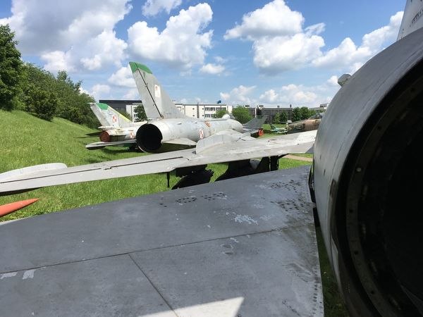 Air Vehicle Airplane Airport Runway Cloud - Sky Cold War Cold War Relic Day Fighter Jet Fighter Plane Jet Engine Migs Mode Of Transport Nose Outdoors Polish Airforce Polish Military Russian Aircraft Russian Airforces Russian Military Sky Transportation War Planes Winged Wings Wingspan