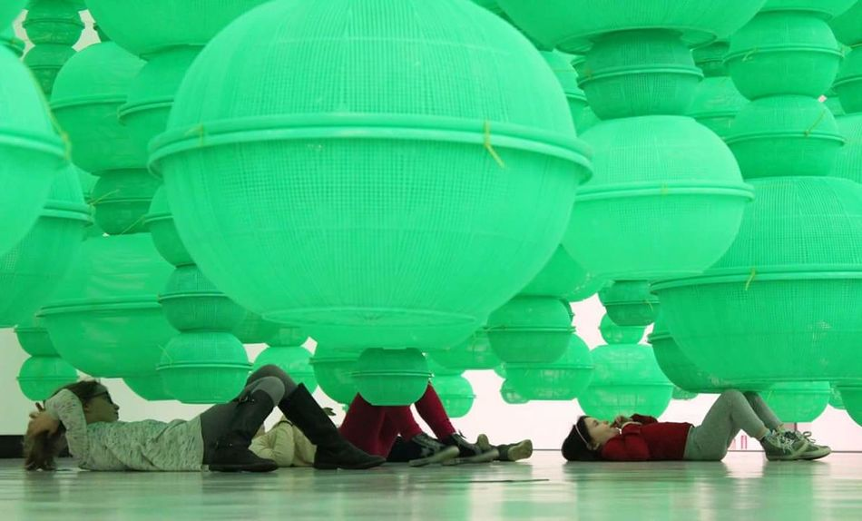 MAXXI_gennaio2016 Vibrant Color Relaxation Art Gallery MAXXI Roma Green Color Contemporary Art Installation Art Kids Art Roma !