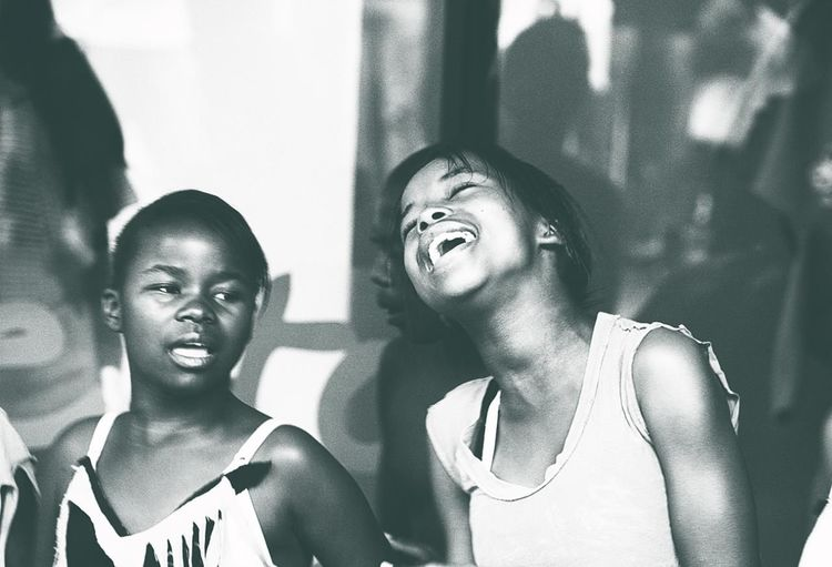 People Of EyeEm People Photography Capture The Moment Streetphotography Monochrome Singing Girls Capetown Republic Of South Africa People
