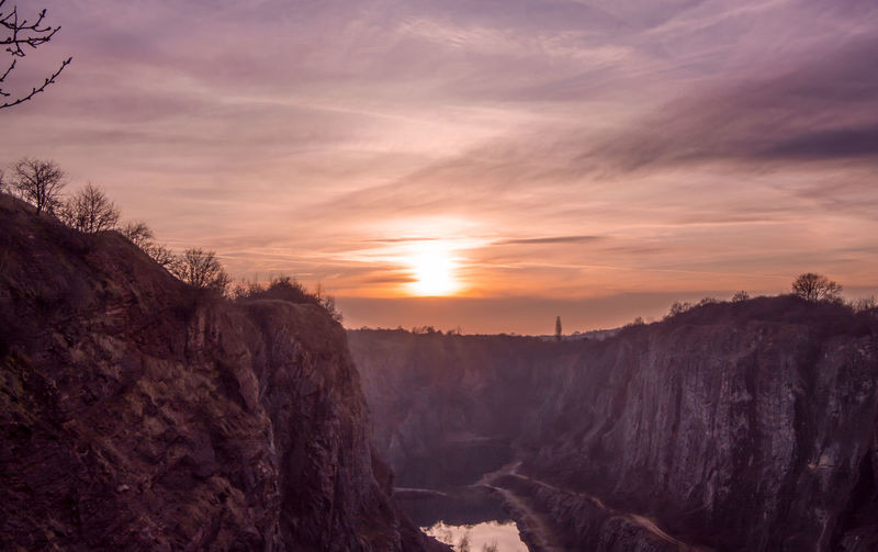 Photography Photo Landscape Land Sun Sunset Canyon Velkaamerika Czech Czechrepublic Sweet Sky RedSky Clouds Nice