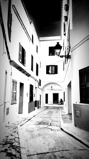 The same in b&w Mediterranean  Menorca Architecture Streetphotography Blackandwhite Monochrome