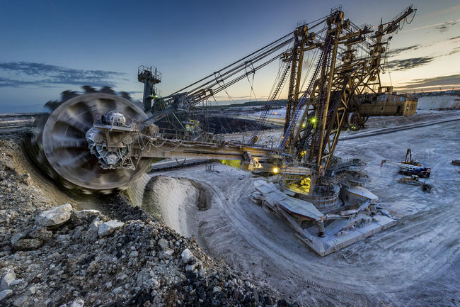Russia, Stary Oskol, Stoilensky GOK, bucket wheel excavator, Stripping Bucket Wheel Excavator Day Mode Of Transport Nature No People Outdoors Parking Russia россия Sky Stationary Stoilensky GOK Travel Destinations Water