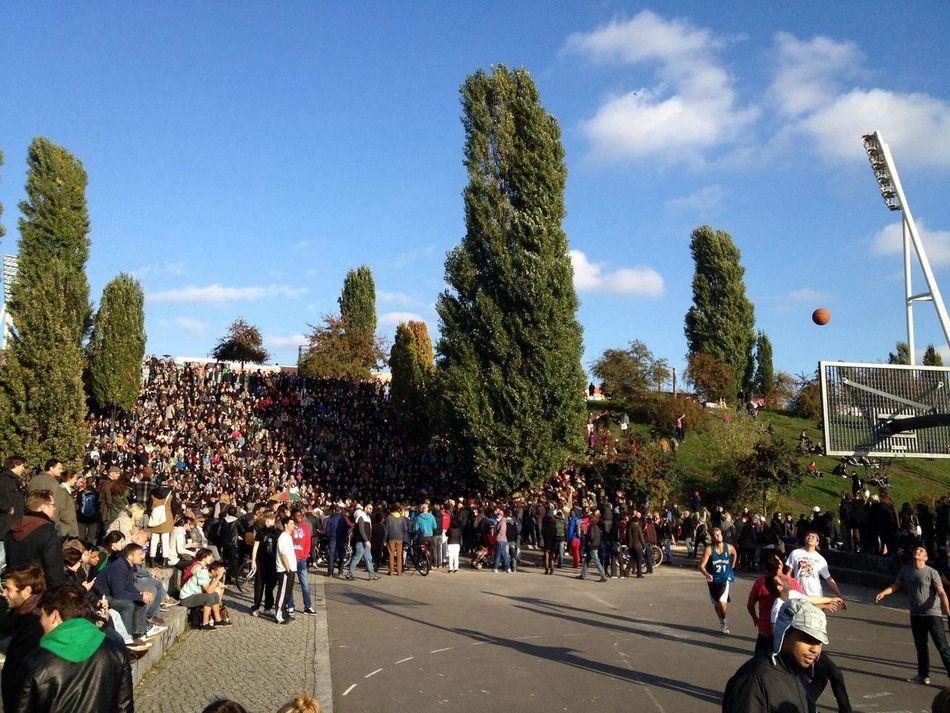 Beautiful stock photos of basketball, Audience, Basketball, Berlin, Crowd