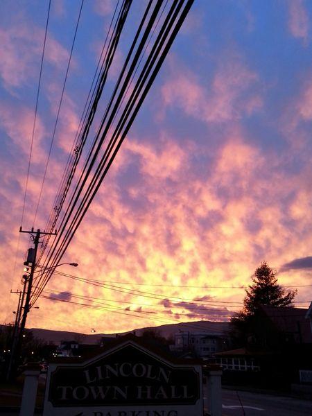 Winter Sunset, Lincoln, NH Oct. 2015 First Eyeem Photo