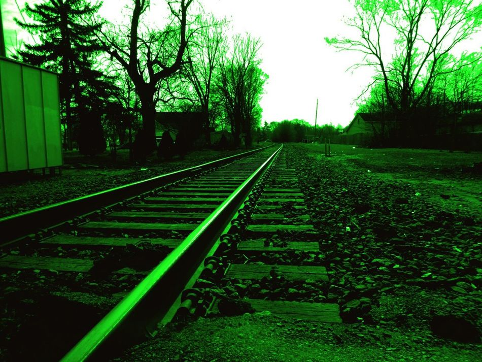 Rails of Green Rails Railroad Tracks St. Patricks Day March 17th Green Irish Mint Train