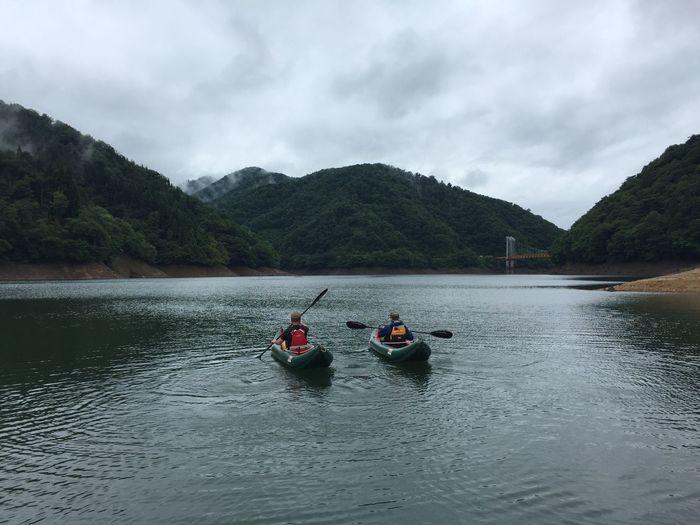 2016.7.17.sun.九頭龍キャンプ。 Camp キャンプ Kayak Grabner Myhusband