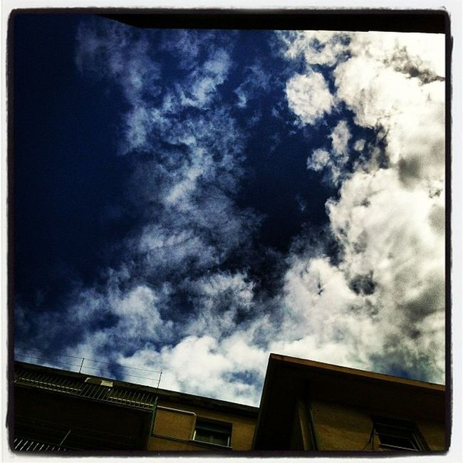 The easy beauty of clouds Spring Fromthestreets Instaily Iphonephoto photo genova sky clouds
