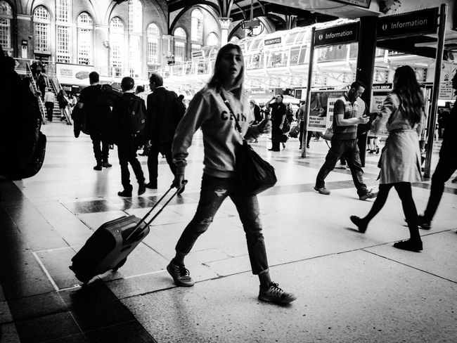 Blackandwhite Traveling London LONDON❤ Train Stations People The Human Condition