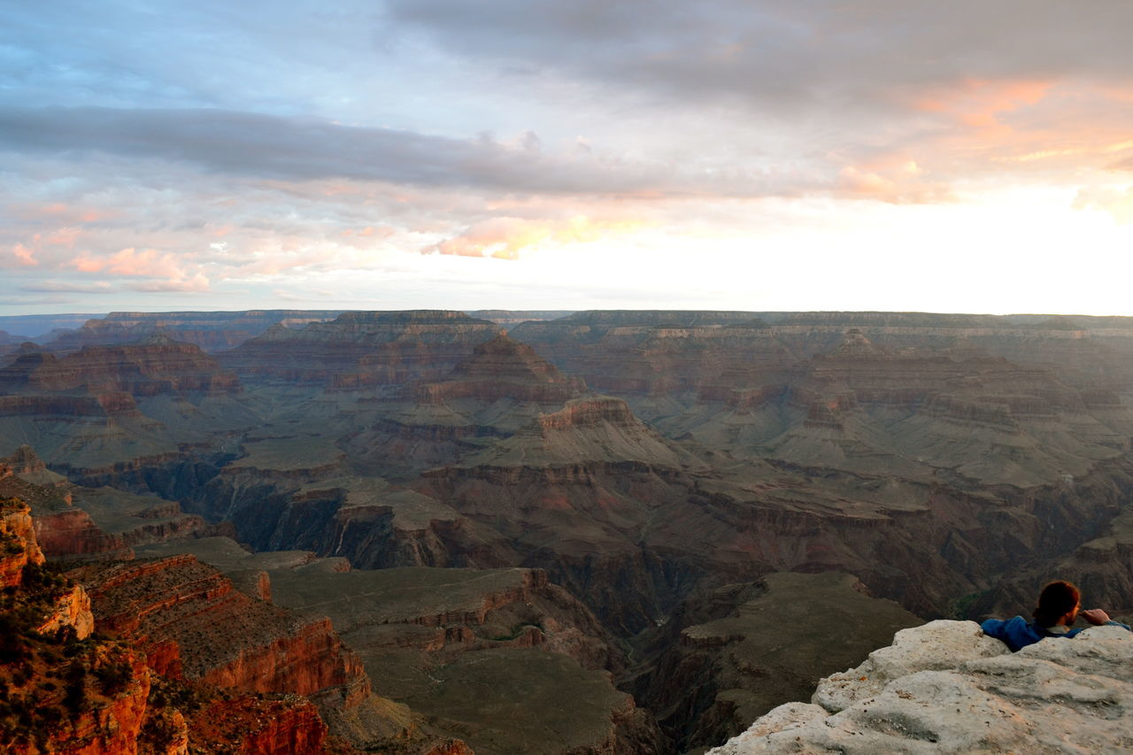 Scenic View Of Grand Canyon National Park At Sunset