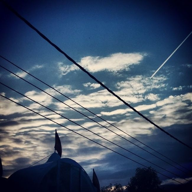 Skyline Airways Spicejet Sunnyside Sunset Trailing LINE Of Plane Gagans_photography