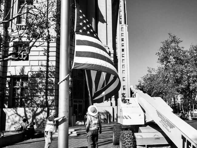 Star spangled banner Street Photography Streetphoto_bw Monochrome Capture The Moment