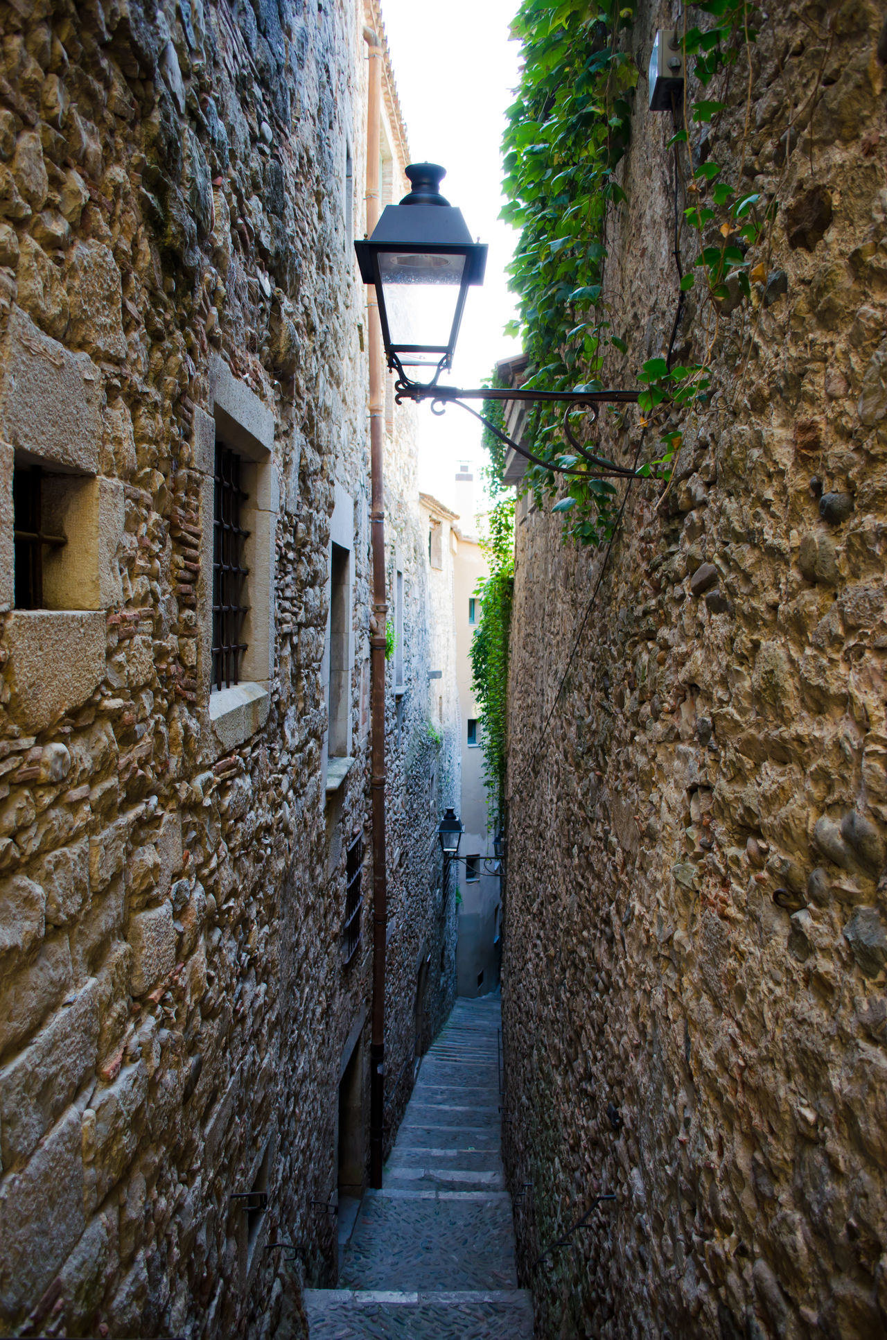 Abandoned Alley Ancient Civilization Architecture Building Building Exterior Catalunya Corridor Damaged Deterioration Door Girona House Leading Light And Shadow Middle Ages Narrow Old Ruined SPAIN Stears Steps Wall Wall - Building Feature Window