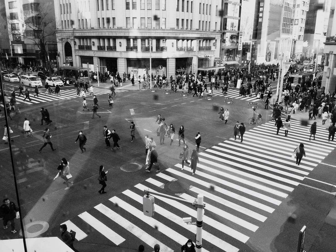 Busy weekend Large Group Of People Real People High Angle View Building Exterior Men Women Walking Day City Outdoors Built Structure Architecture People Adult Weekend Activities Weekend Crossing The Street Blackandwhite Photography Street Photography Famous Place Metropolitan Ginza Tokyo Japan Ginza Walk Lifestyles