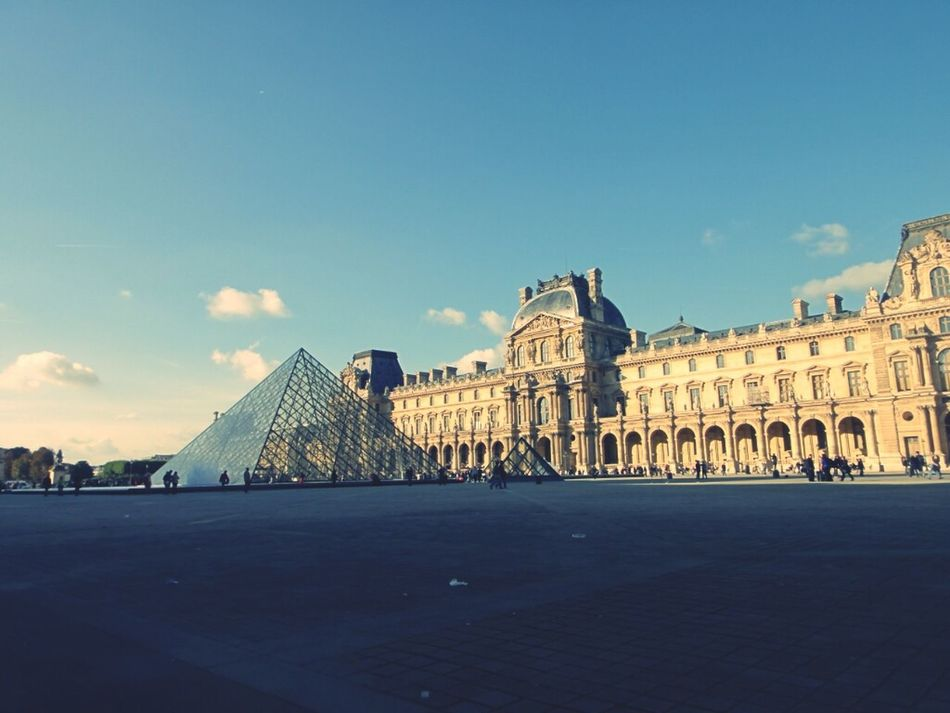 Architecture Paris Louvre Pyramide Du Louvre