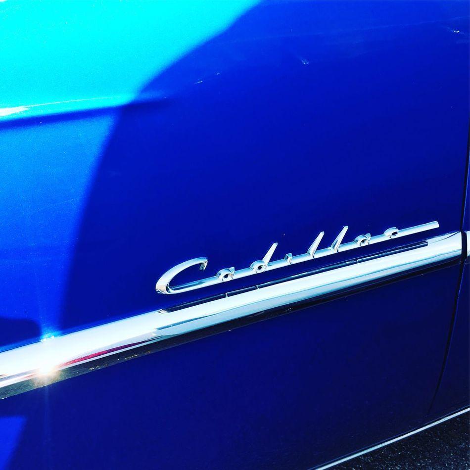Blue Cadillac 💙 Blue Illuminated Electric Light Journey Car Americana Blue Cadillac Cadillac Sunglare Electric Blue Vivid Vivid Blue First Eyeem Photo