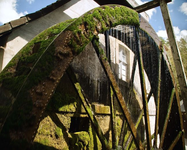 Capturing Motion My Eyes My Franken Water Wheel Watermill Low Angle View Architecture My Eyes For Architecture Flyfish Album Urban Exploration Outdoor Fantasy Dreaming Film EyeEm Best Shots Motion Motion Blur Windows