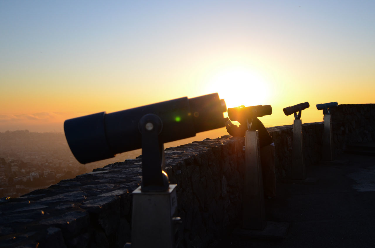 Beautiful stock photos of sunshine, Cityscape, Clear Sky, Coin Operated Binoculars, Horizontal