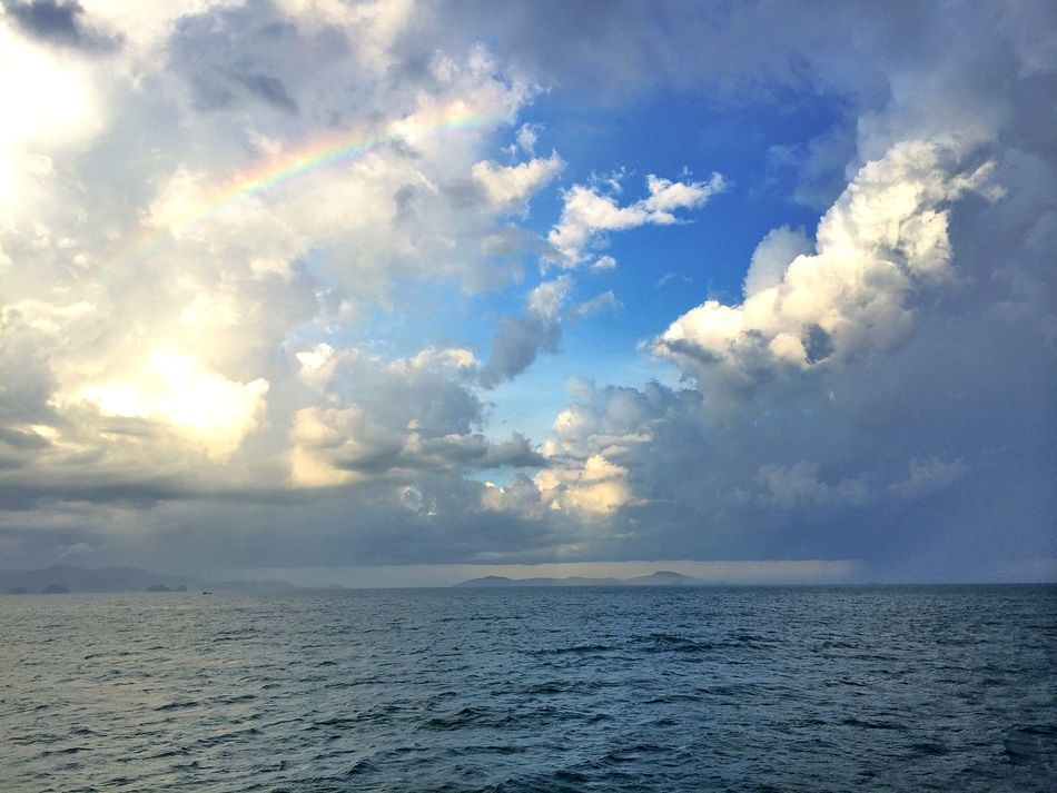 Sea Sea And Sky Seascape Landscape Rainbow