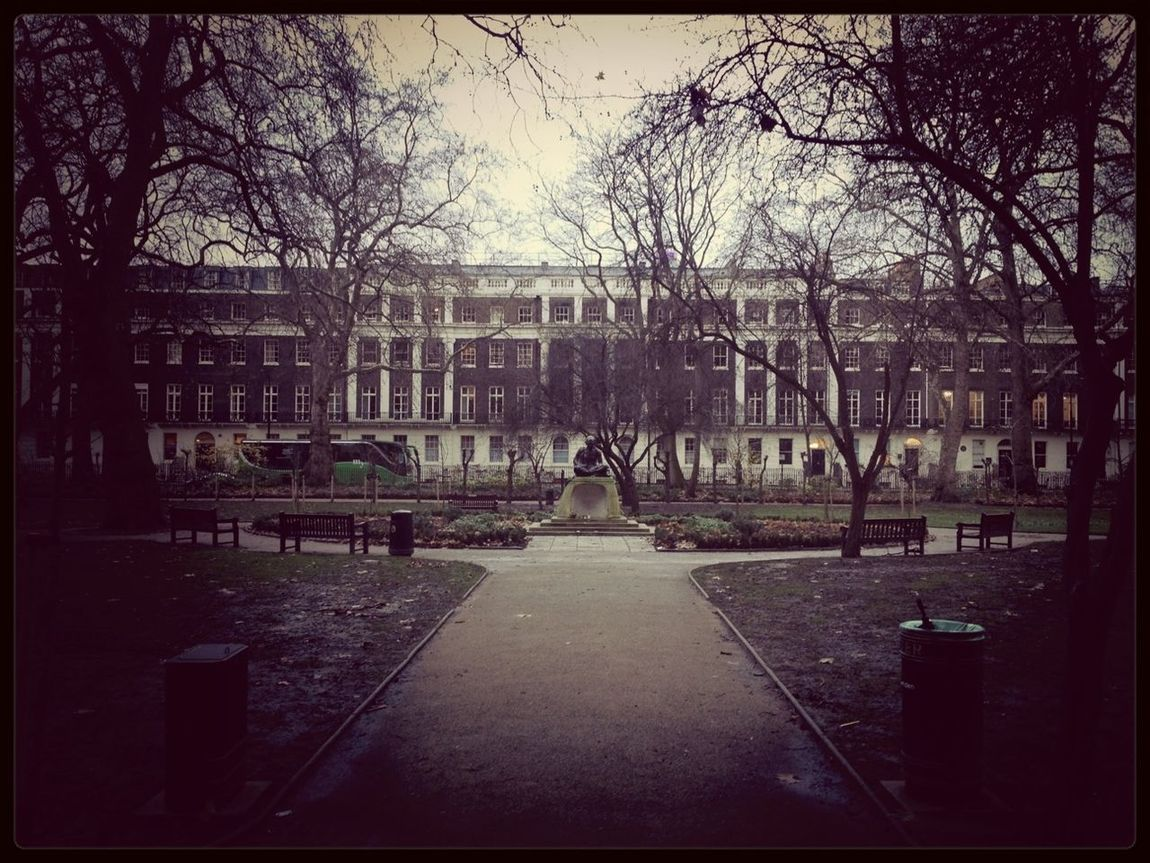 """""""I will not let anyone walk through my mind with their dirty feet."""" - Gandhi Park Memorial Nature Bloomsbury"""