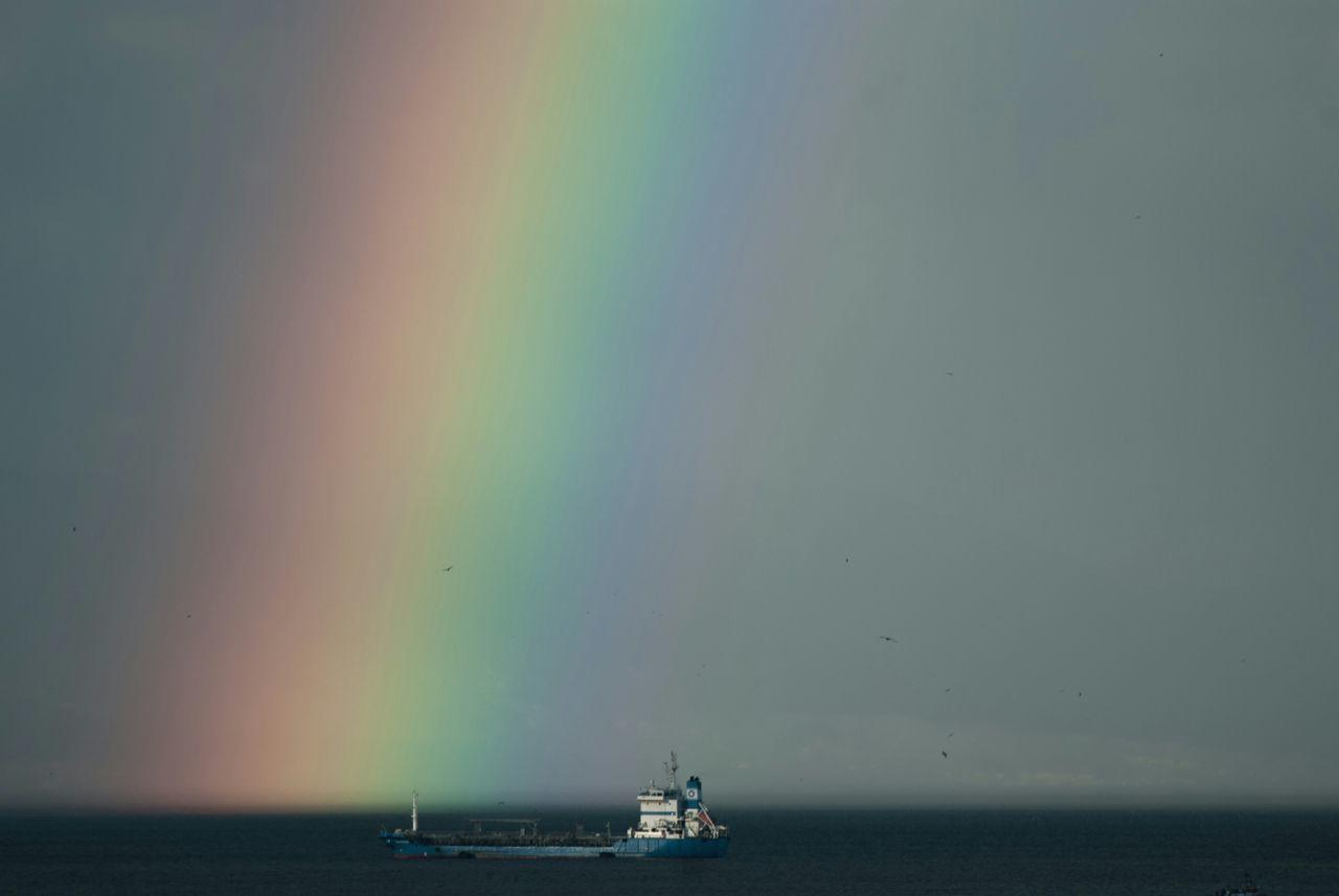 Beautiful stock photos of rainbow, Beauty In Nature, Day, Horizon Over Water, Idyllic