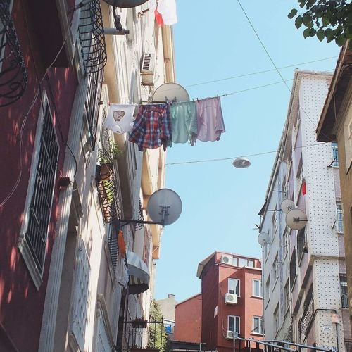 Balat Building Exterior Architecture Built Structure Low Angle View House Residential Building City Day Hanging Street Outdoors Sky No People Drying Istanbul Turkey Tb Amazing TBT  Love