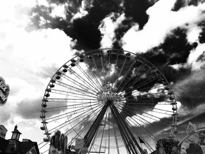 Farris Wheel Fairground Fun Skyporn Sky And Clouds Things I Like Urban Geometry Urban Urbanphotography Black And White Schwarzweiß Showcase April Jahrmarkt EyeEm Best Shots Clouds And Sky Up High Sky_collection Bnw_collection Pattern Pieces Sky_collection Skyline My Favorite Photo The OO Mission
